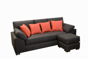 Sillon 3 cuerpos con 1 puff movibles